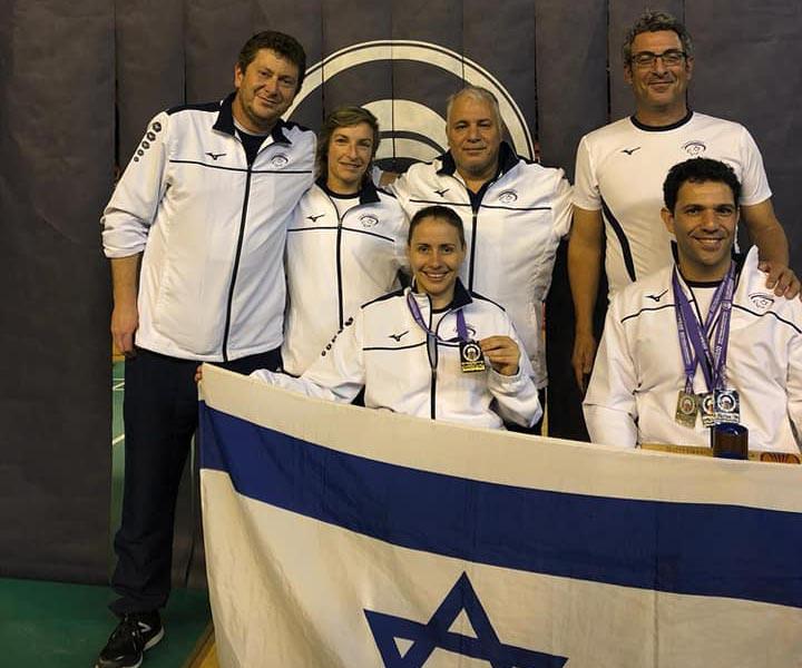 אמיר לוי ונינה גורדיצקי - מדליית זהב זוגות מעורבים - אליפות אירופה 2018