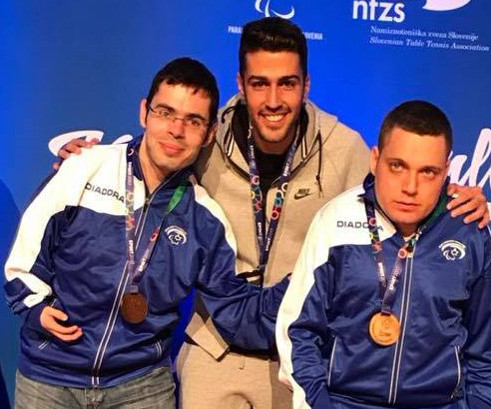 דני בוברוב ואסף גופר מדליית ארד באליפות אירופה בטניס שולחן קבוצתי 2017