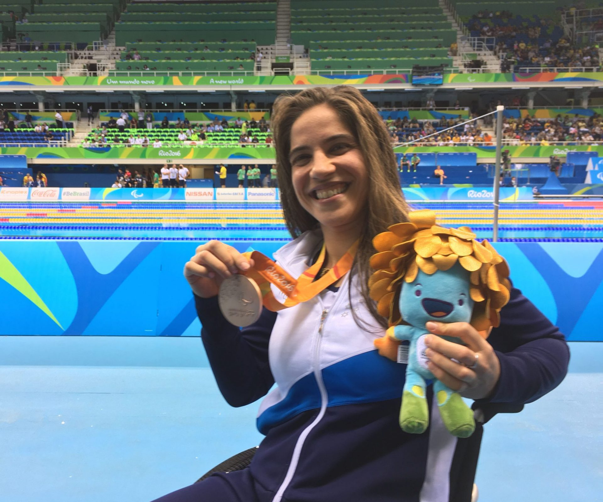 ענבל פיזרו זוכה במדליית ארד במשחקים הפראלימפים ריו 2016