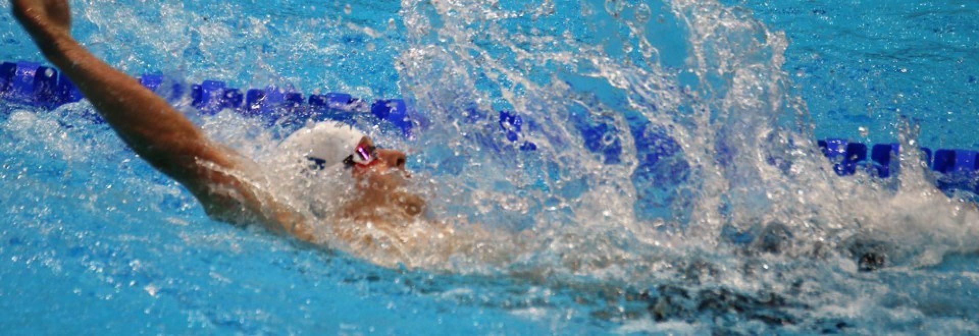 שחיין שוחה גב